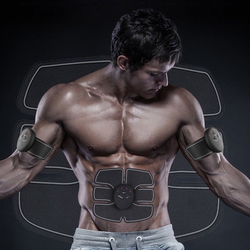 Almohadillas de pulso ems eléctricas Estimulador muscular abdomen equipo de entrenamiento de fitness inteligente dispositivo de electroestimulación ems abs masajeador Arnés de cuero Bondage cinturón de acero inoxidable pezón pinzas para mama estimuladores juguetes sexuales para mujer hombres juegos de adultos BDSM restricciones