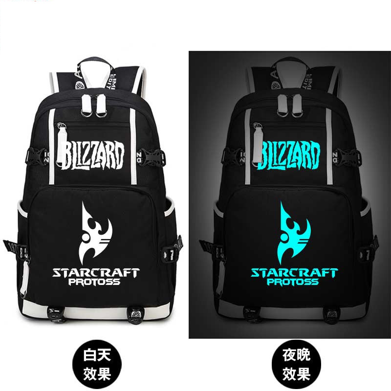 Starcraft Game Printing Bag School Backpacks Glow In Dark Light For Teenage Girls Students Book Laptop Bags