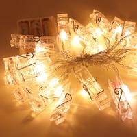 LED Garland Lights String Novelty HolidayLights Photo Holder Battery Luminaria For Festival Christmas Decoration Wedding Lamps