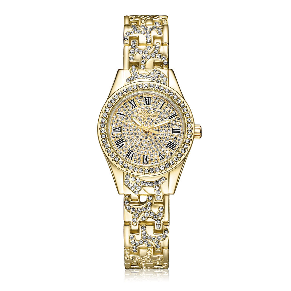 LVPAI Luxury Ladies Diamond Watches Women Fashion Roman Numerals Quartz Wrist Watch Women's Crystal Clock Relogio Feminino #Ni 2017 fashion ladies watch women luxury crystal diamond wrist watch women s watches relogios feminino luxury rose golden watch