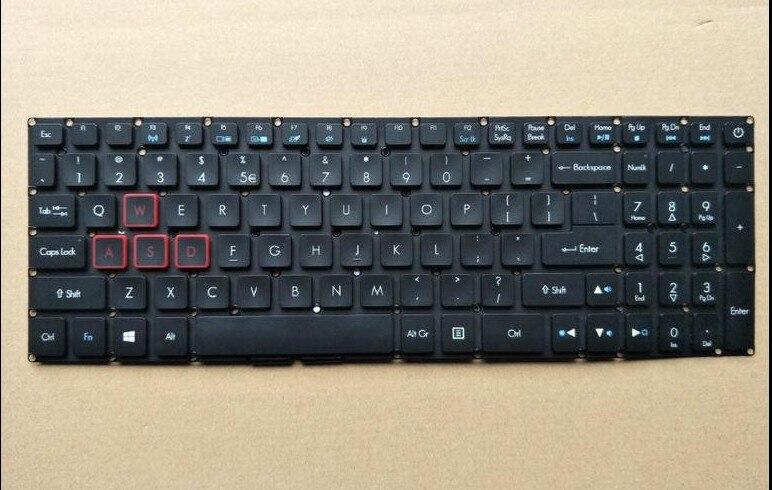 Новая клавиатура для acer Aspire VX5-591G VX15 VN7-593 G9-591G подсветкой US/UK/японский/русский/Французский макет