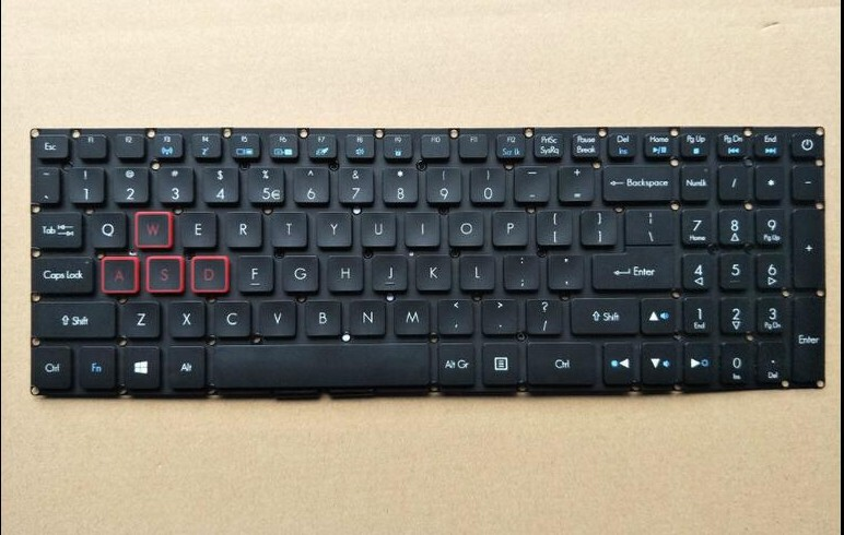New keyboard for Acer Aspire VX5-591G VX15 VN7-593 G9-591G backlit US/UK/JAPANESE/RUSSIAN layout new notebook laptop keyboard for dell studio 15 1535 1536 1537 0kr770 backlit french layout
