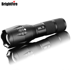 Ultra Bright 5 Mode XML T6 3800LM Zoomable Led Flashlight Waterproof Torch Lights Bike Light