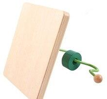 Купить с кэшбэком New Wooden Baby Toys Montessori Wood Snake Moving Learning Educational Baby Gifts