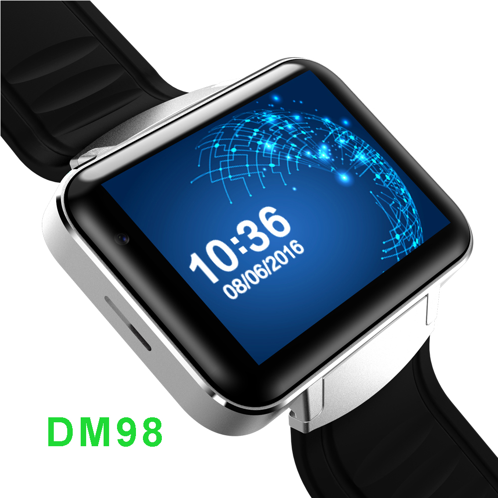 DM98 Android System Smart Watch MTK6572A Dual Core 1.2G ROM 4G Bluetooth 4.0 Support SIM 3G WIFI GPS Sport Watch Fitness Tracker