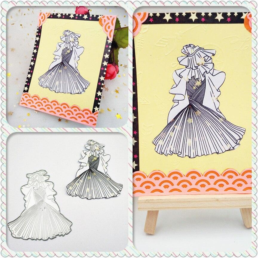 AZSG Holy Wedding Dress Cutting Dies For DIY Scrapbooking Decorative Card making Craft Fun Decoration 7*8cm