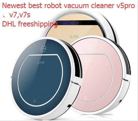 ILife V5PRO V7 V7S PRO smart Сухой и мокрой Шваброй Робот Пылесос для Дома, авто зарядка, HEPA Фильтр, Датчик, бытовой химии
