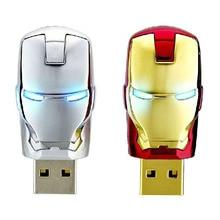 Hot sale Iron man flash drive 4gb 8gb 16gb 32gb 64gb usb flash drive Real capacity pendrive Memory Stick USB 2.0 u disk gift
