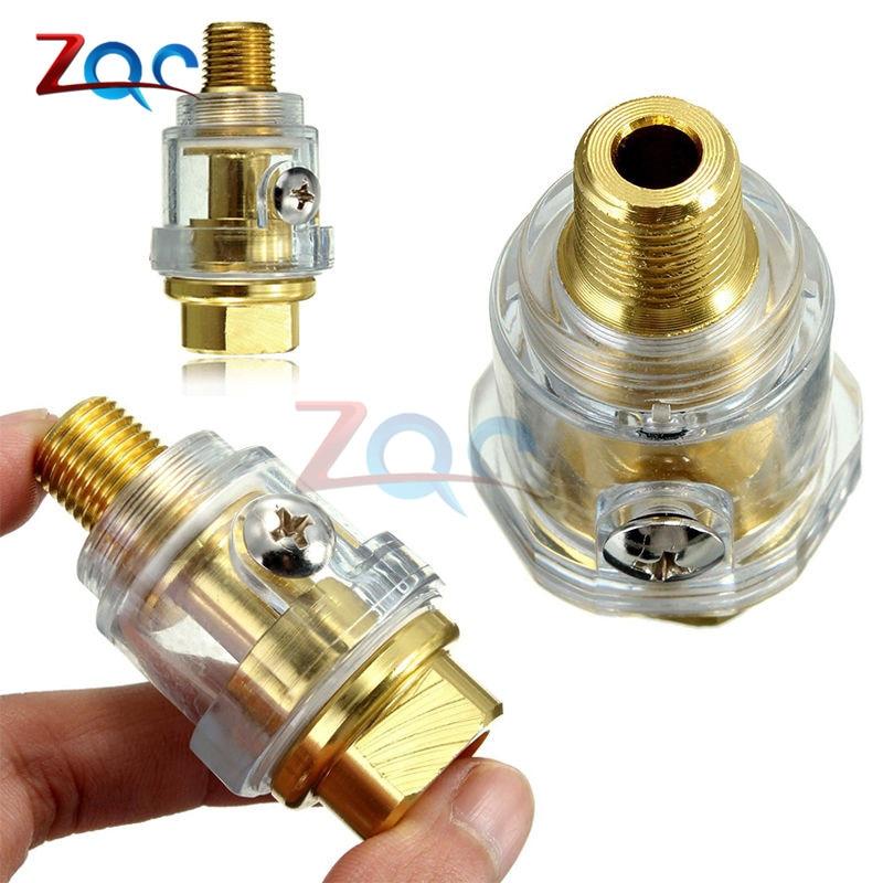 Hardware Oiler Lubricator of 1/4 BSP Mini In-Line Oiler Lubricator for Pneumatic Tool & Air Compressor Pipe