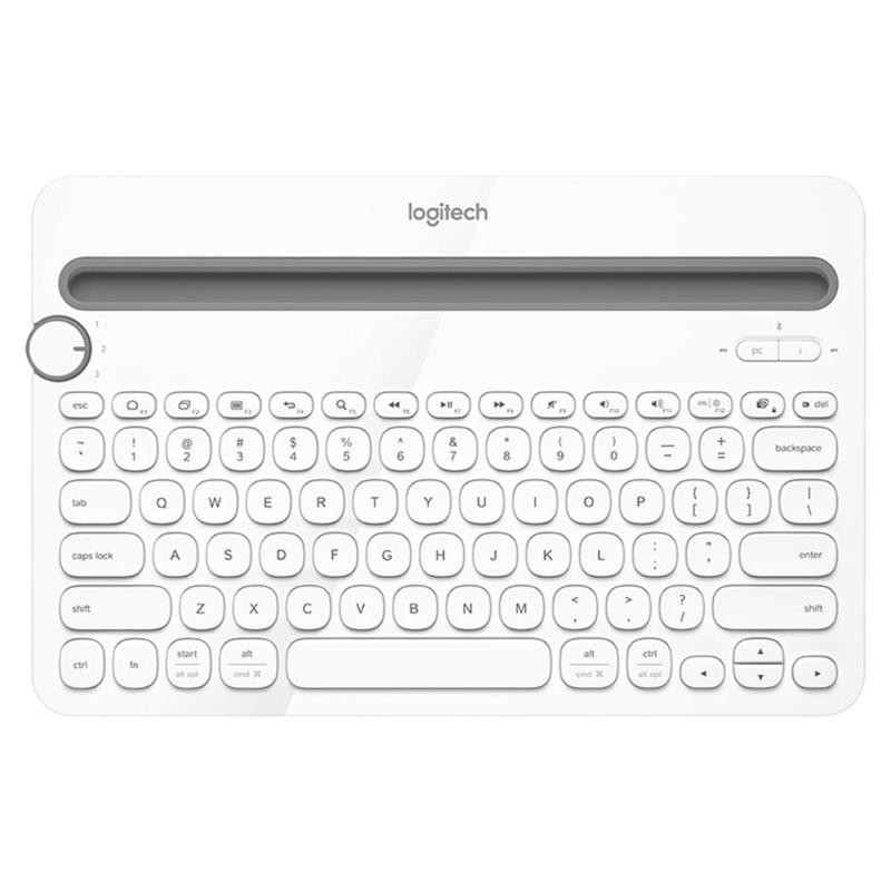 Logitech K480 Bluetooth Multi-Device Portable Keyboard with Phone Holder  Slot for Windows Mac OS iOS Android Smart Phone/Tablet