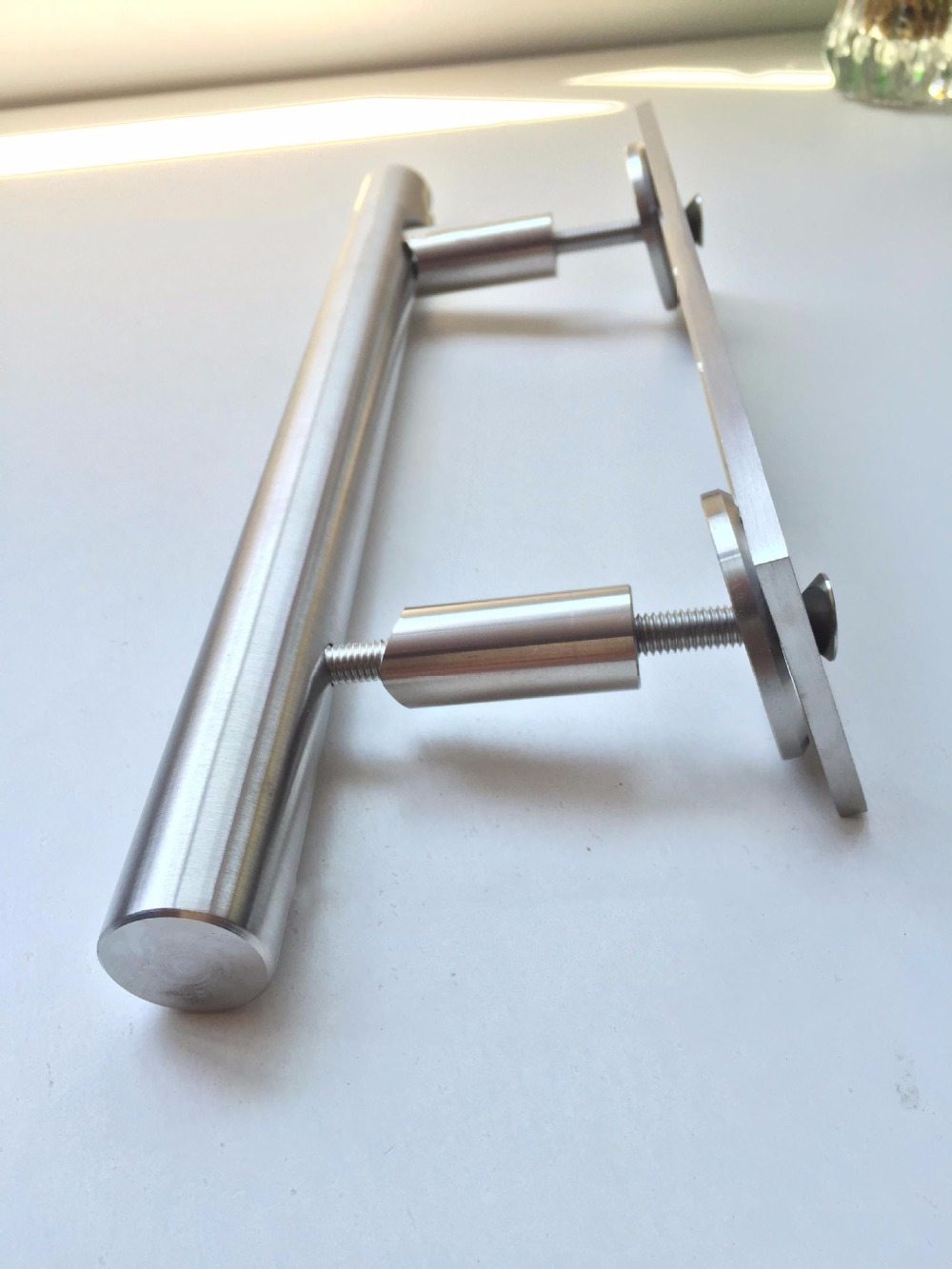stainless steel sliding barn door pull handle wood door handle brushed nickelin door handles from home improvement on alibaba group