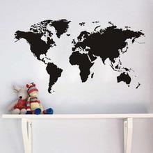 Adhesivo con diseño de mapa para pared Atlas World, papel tapiz creativo para decoración de sala de estar, papel tapiz para Pegatinas, decoración del hogar y dormitorio Vintage, murales artísticos