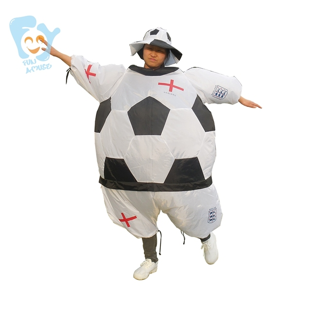 halloween costume men cosplay inflatable soccer football costumes adult fancy dress world cup national soccer team