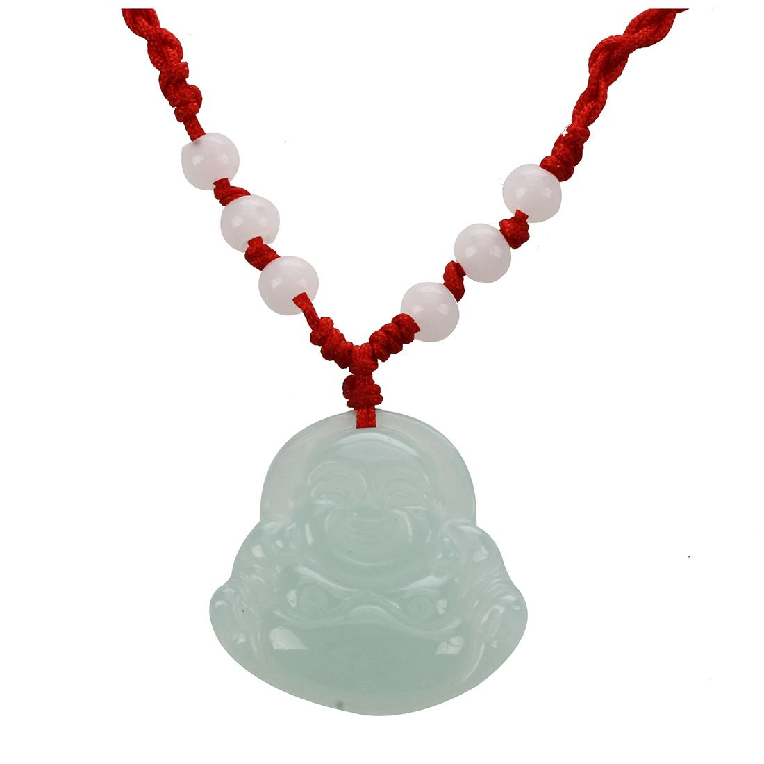 Red String Green Faux Buddha Pendant font b Jewelry b font Necklace