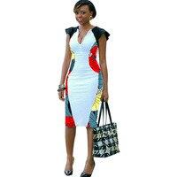 African wax dress patchwork Kanga design Ankara print outfits Custom made African women's clothing handmade Dashiki dress