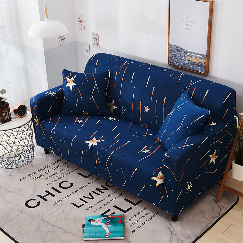 US $25.0 |Blue Elastic Polyester Universal Stretch Couch/Corner Sofa  Slipcovers For Living Room Single Double Couch Sofa Slipcovers-in Sofa  Cover from ...