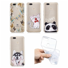 Xiaomi Mi A1 Case Cover Cute Panda Dog Cut Transparent Silicone Phone Case on for Funda Xiaomi Mi A1 mia1 mi-a1 Mi 5X Case women цена и фото