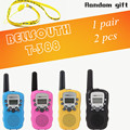 T-388 Mini Walkie Talkie UHF 462.550-467.7125MHz 0.5W 22CH For Kid Children LCD Display A0762Z 2pcs/set