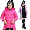 2017 Nova Moda Bebê Meninas Jaquetas À Prova D' Água Crianças Meninas Roupas Casaco Crianças Meninas Outerwear Inverno Quente de Outono