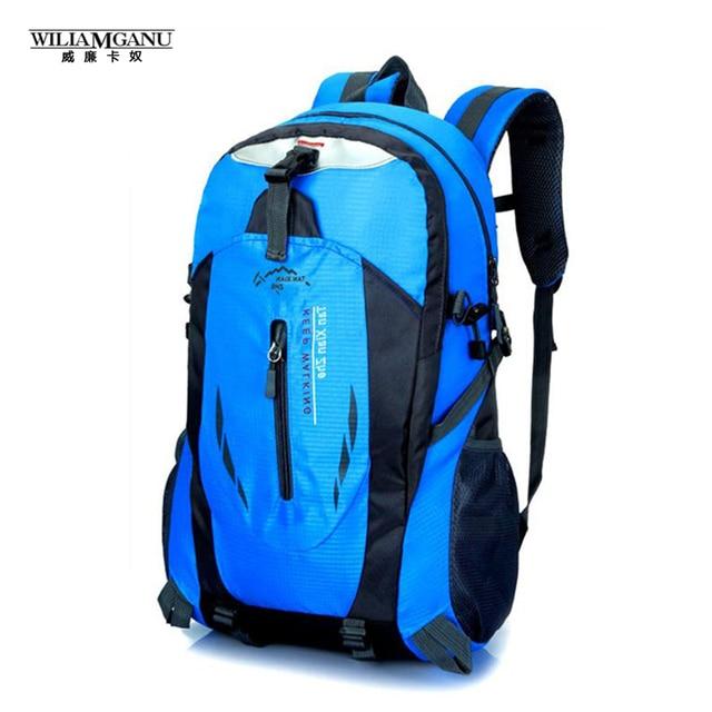 Wiliamganu 2017 nueva mochila de nylon impermeable bolsa mochila bolso del alpinismo de los hombres bolsas de viaje mochila 12 colores