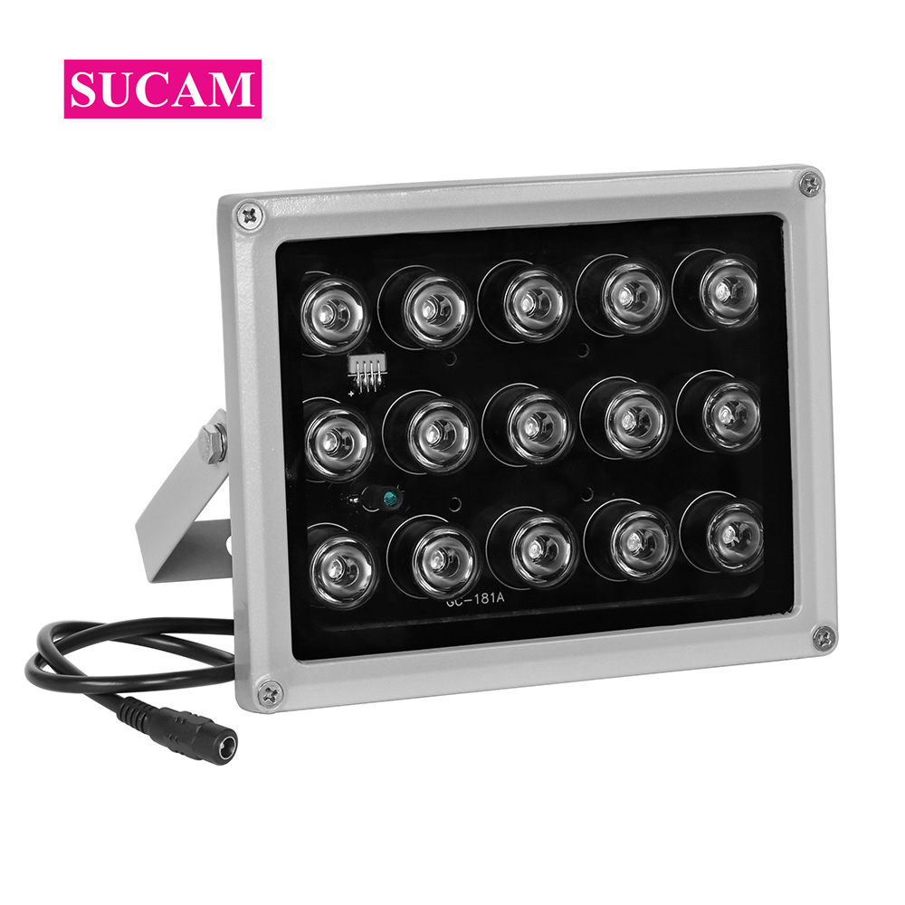 CCTV Fill Leds 15Pieces Array IR Led Light Infrared Illuminator Lamp Night Vision Waterproof Leds for CCTV Camera at Night Time azishn cctv 12pcs array leds ir illuminator infrared outdoor waterproof night vision cctv fill light for cctv security camera