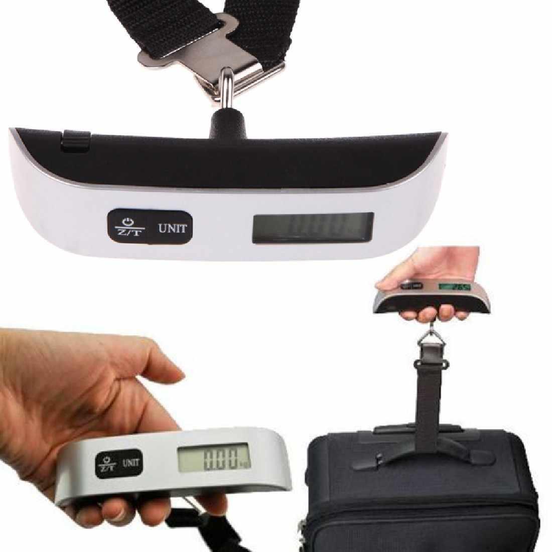 1Pc Balance à bagages Balance électronique numérique valise portable sac de voyage suspendus balances Balance poids thermomètre affichage LCD