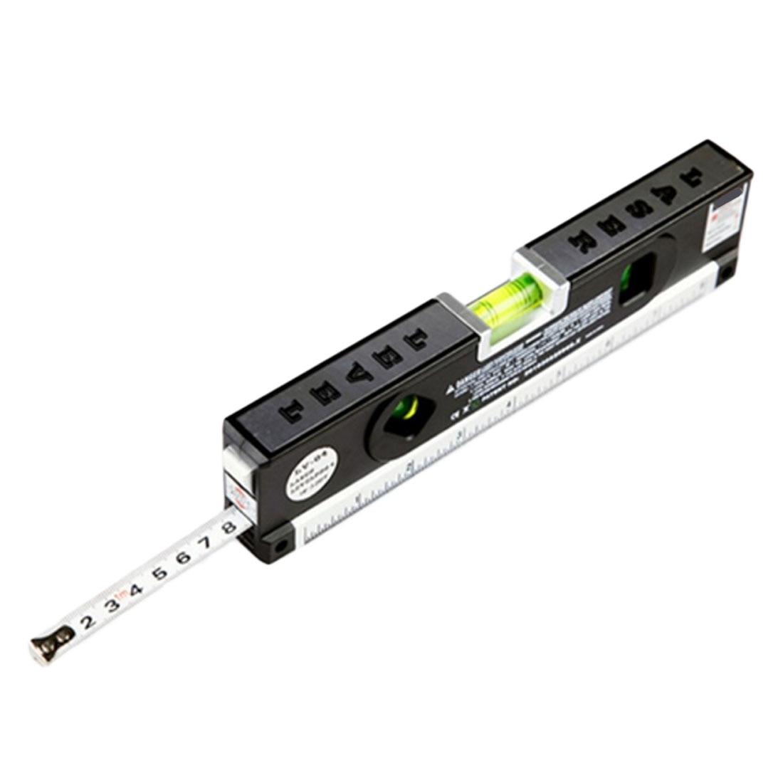 1 pz 4 In 1 Blister Livelli Laser Vertical Horizon Nastro di Misurazione Magnetica Linee di Marcatura Laser Assetto Righello Strumento