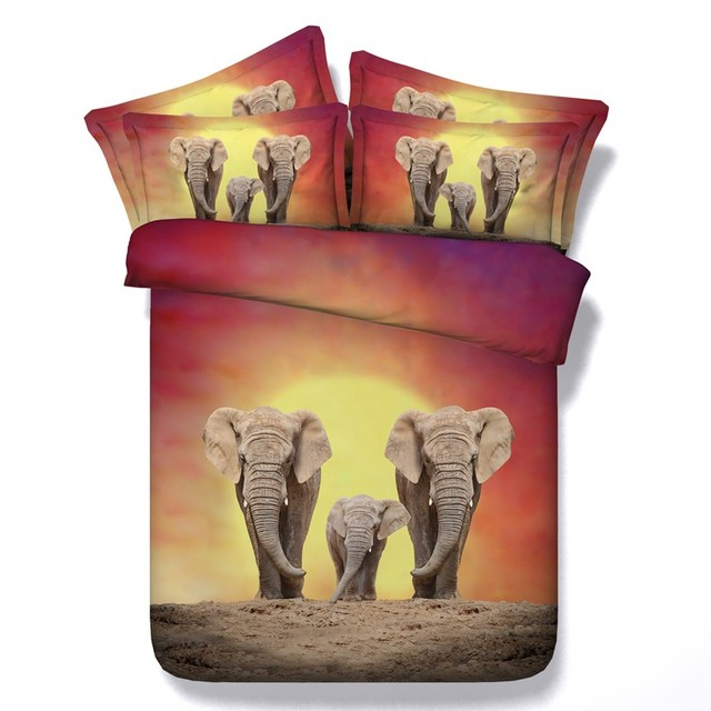 Elefanten Bettwäsche Set Für Erwachsene Bettbezug Bett In Einem