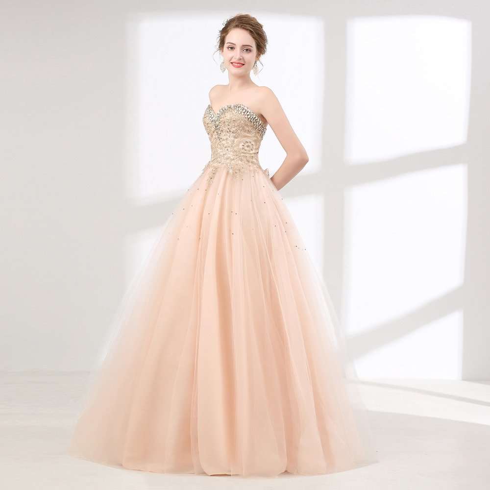 3449c4344d0bf US $123.9 41% OFF|ANGELSBRIDEP Pink Quinceanera Dresses Tulle Crystal  Beaded Masquerade Ball Gown Women Formal Debutante Gowns Vestidos De 15  Anos-in ...