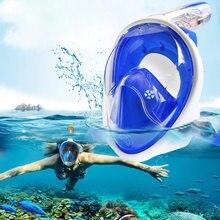 dea45b3b7 2018 Novo Rosto Cheio Máscaras de Mergulho Conjunto Snorkel Máscara de  Mergulho Para GoPro Segurança Respiratória