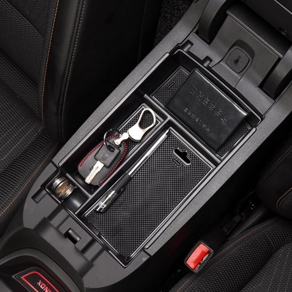 Car Armrest Storage Organizer Center Console Tray Divider ...