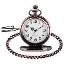 Trendy Nurse Pocket Fob Watch Smooth Rose Copper Retro Modern Stylish Vintage Pendant with Chain Men Women Birthday Gifts Clock