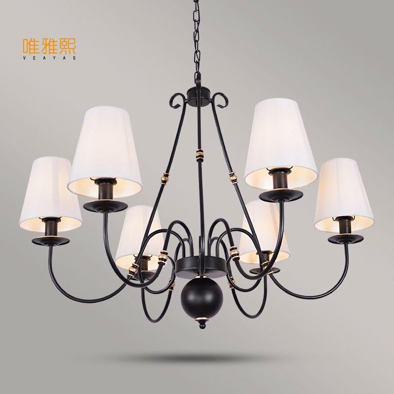 Veayas люстра светильники luminaria светодиодный современный блеск люстры тени Утюг Avize свет для Спальня жизни ro
