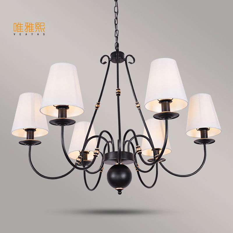 Veayas Chandelier Lighting Fixtures luminaria LED Modern lustre Ceiling Chandeliers Shade Iron Avize Light for Bedroom living ro