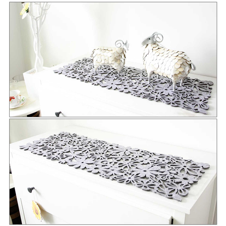 Behogar 30x100 см полый войлочный коврик для стола бегун для дома вечерние банкетные Свадебные торжественные принадлежности для рождественского декора