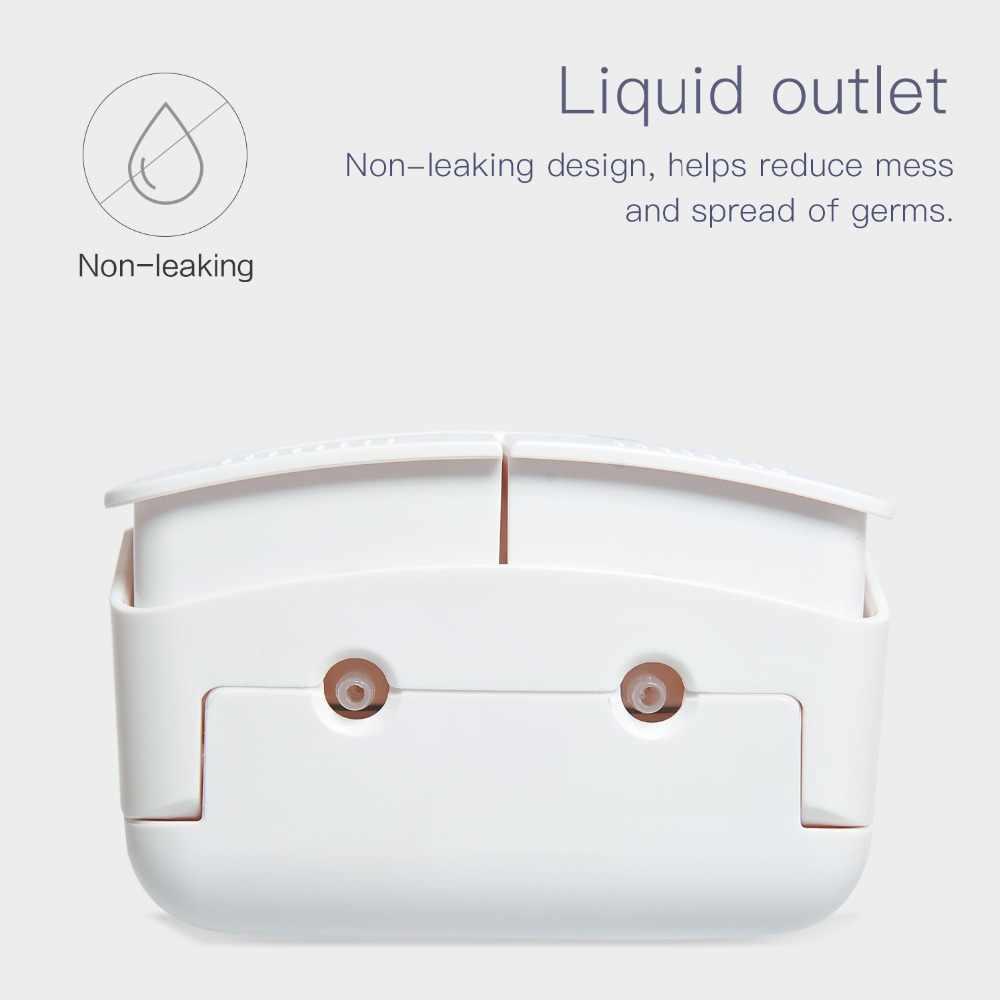 Настенный двойной ручной диспенсер для жидкого мыла, ручной дозатор для душа, лосьон для тела, шампунь, ручной диспенсер для мыла, 550 мл * 2