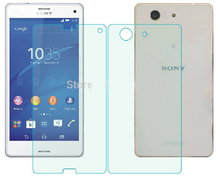For Sony Z3 Compact Glass Film Front+Back Tempered Glass Screen Protector for Sony Xperia Z3 Compact Z3Mini D5803 D5833 цена 2017