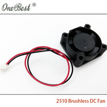 Free Shipping 2510 Mini Fan DC 12V Chipset Heatsink Cooling Cooler Brushless Fan 25X25X10mm with PH2.0-2Pin Cable length 130mm