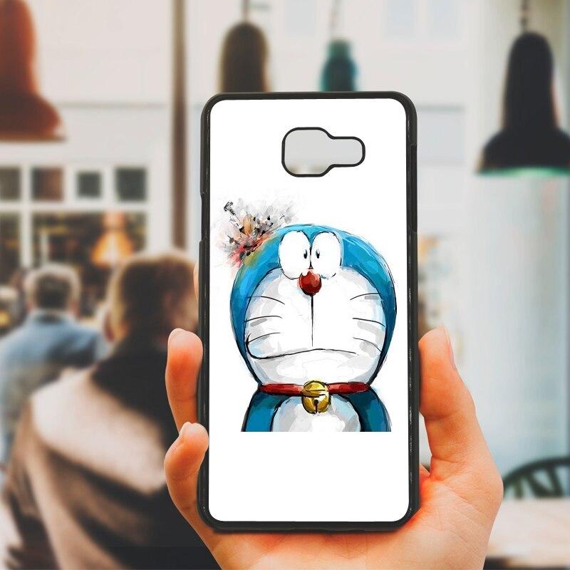 Cute Cartoon Doraemon Art Cell Phone Case PC Hard Plastic Cover for Samsung Galaxy S8 S9 Plus S3 S4 S5 Mini S7 S6 Edge Plus Case
