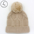 2016 New Year Women's Hats Beanies Wool Acrylic Hat Womens Cap Women's Winter Hats With Knitted Pom Pom Skullies And Beanies Hat