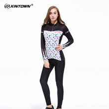 XINTOWN Corfortable Long Sleeve Cycling Jersey Set MTB Bike Clothing Bicycle Jerseys Clothes Maillot Ropa Ciclismo