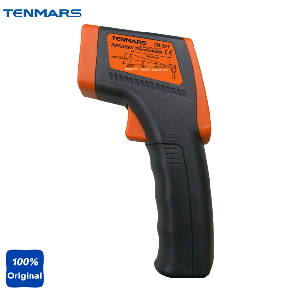 Gun Type LCD Infrared Thermometer for HVAC Inspection Electrical Inspection Motor Inspection TM-301