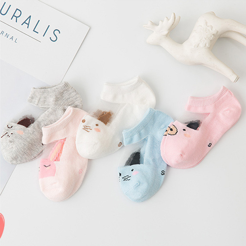 5Pairs/lot Infant Baby Socks Summer Mesh Thin Baby Socks for Girls Cotton Newborn Boy Toddler Socks Baby Clothes Accessories 4