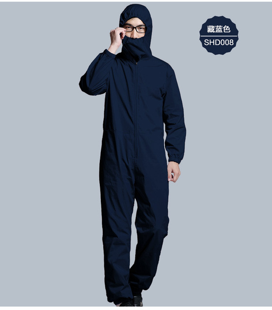 New style electromagnetic protection radiation shield work clothing, EMF shielding Coverall, RFID Blocking garment.