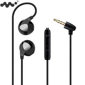 Image 1 - Moblie auriculares 5S para iPhone 6 6S, dispositivo con micrófono y conector Jack de 3,5mm, auriculares de graves para iphone 4 5 6 Xiaomi Sony Sport