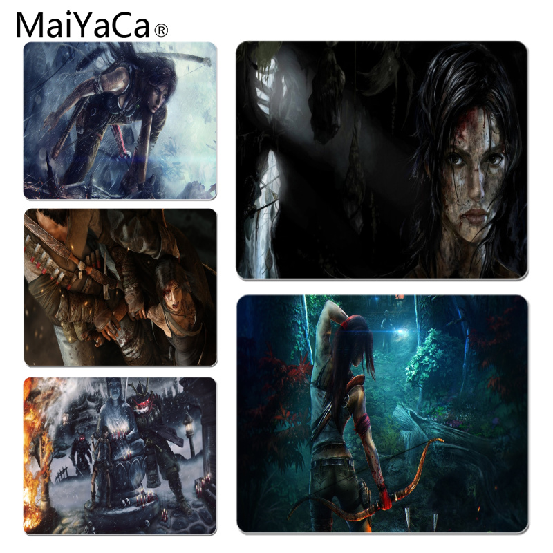 MaiYaCa Tomb Raider Anti-Slip Durable Silicone Computermats Size for 25x29x0.2cm Gaming Mousepads