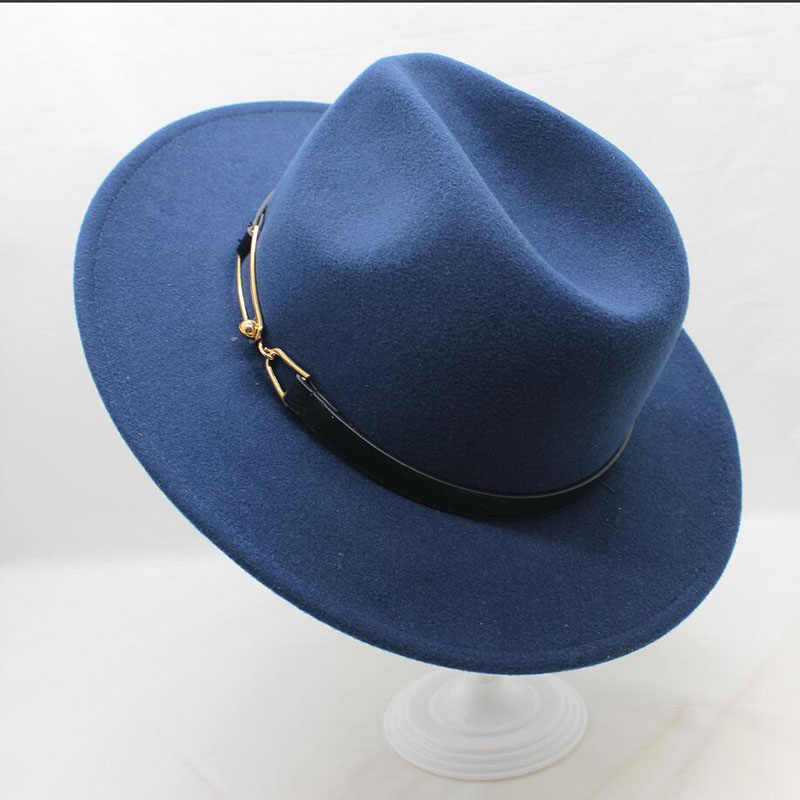 fa6af70c0a7 Detail Feedback Questions about Brand BING YUAN HAO XUAN Ladies Fedora Hat  Wool Wide Winter Cap Felt Hats Women Hat Elegant Man 2018 Sun Hat on ...