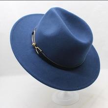 Brand BING YUAN HAO XUAN Ladies Fedora Hat Wool Wide Winter Cap Felt Hats Women Elegant Man 2018 Sun