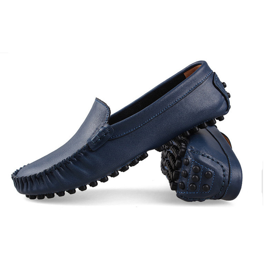 Spring Winter Big Plus Size 38-50 Men Genuine Leather Moccasins Casual Fashion Loafers Men Shoes Driving High Quality Flat Shoes big size men work casual shoes fashion mens loafers luxury genuine leather lace up flat father driving shoes lmx b0024