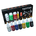 Tatuagem Tintas 7 Cores 15 ml/bottle Pigmento da Tatuagem Conjunto de Tintas Para Tatuagem Body Art Kit Frete Grátis